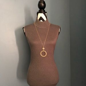 Brown necklace with matching earrings